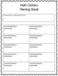 free math workshop lesson plan templates editable with drop down