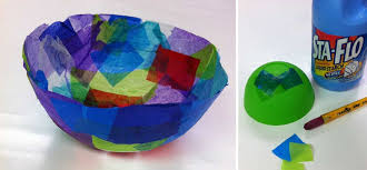 paper bowls tissue paper bowls projects for kids