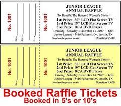 raffle tickets 500 raffle tickets drawing custom printed staple booked fundraiser
