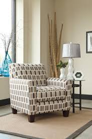 Geometric Accent Chair Contemporary Accent Chair With Geometric Print Fabric By