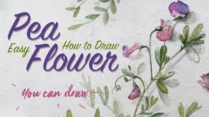 how to draw realistic flowers learn to draw pea flower easy