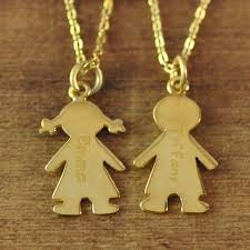 mothers necklace charms 18k gold plated s necklace with engraved children charms