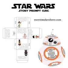 free star wars printable story cube story prompts activities