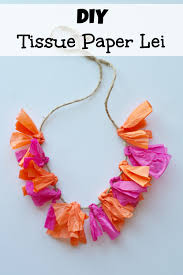 quick u0026 easy way to make a tissue paper lei summer parties