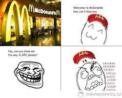 Troll Meme Comics - trolling at mcdonald meme comics