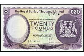 banknote yearbook royal bank of scotland limited 1 1972 serial number a 27