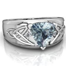 mens celtic rings aquamarine celtic knot men s ring r0440 waqua