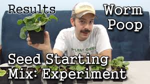 sustainable worm casting seed starting mix indoor garden