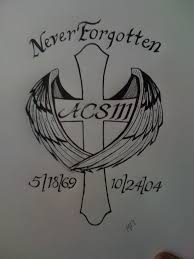 cross angel wing tattoos 5 memorial tattoo designs