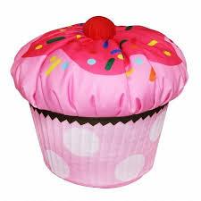 amazon com newco international kids cupcake bean bag pink