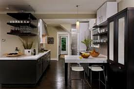 Wood Floor In Kitchen by Terrific Kitchens With Dark Floors And Light Cabinets Pictures