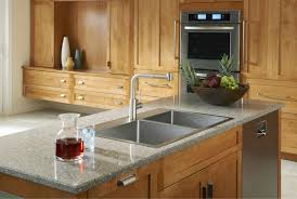 Kitchen Faucet For Granite Countertops Kitchen Gray Granite Countertop With Stainless Stell Single