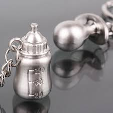 baby shower keychain favors free shipping 20pair baby s bottle and keychain wedding