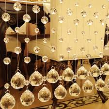 home decoration for wedding 1m crystal bead curtain fashion indoor home decoration luxury