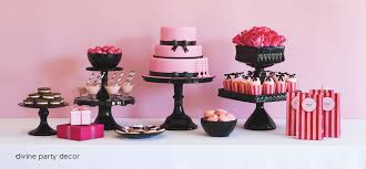 birthday decorations pink and black image inspiration of cake