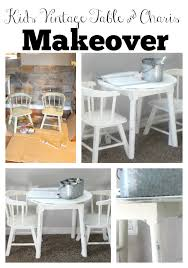 vintage table and chairs vintage kids table and chairs makeover with chalk paint the glam