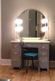 Mirrored Vanity Set Furniture U0026 Rug Fancy Makeup Vanity Table With Lighted Mirror For