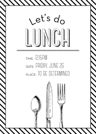 lunch invitation simple but lunch invitation made by me