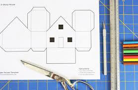 printable model house template design for kids paper houses babble dabble do