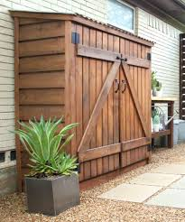 Backyard Garage Ideas by Tool Shed With Stain And Cedar Trim Inside The Carport For Yard
