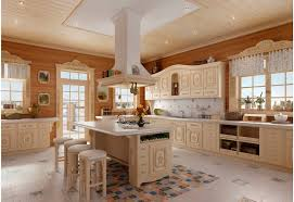 l shape kitchen decoration using ceiling mount square white wooden