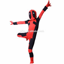 kids deadpool costume superhero cosplay children halloween