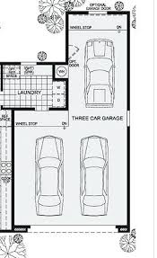 tandem garage three car workshop office rotate back cars and