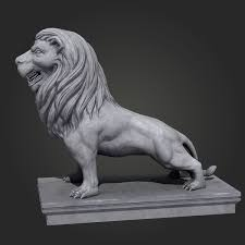 lion statue lion statue 3d model cgtrader