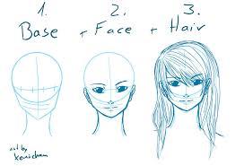 digital manga face sketching by xeni chan on deviantart