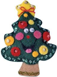 design works tree ornament felt applique kit