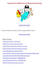 yamaha psr 9000 service manual download by lita boissy issuu