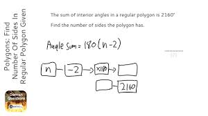 Regular Pentagon Interior Angles Polygons Find Number Of Sides In Regular Polygon Given Angle Sum