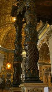 baldacchino by bernini excellent pillars on bernini s baldacchino picture of