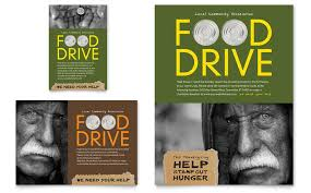 drive brochure template food drive fundraiser flyer ad template word publisher