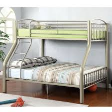 furniture of america olivane modern metallic gold twin full bunk