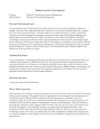 Resume Personal Statement Sample by Sample Goal Statement Sample Resume Format