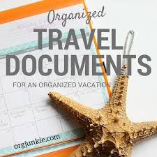 travel documents images Organized travel documents for an organized vacation png