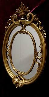 antiker spiegel gold wandspiegel antik rund gold badspiegel spiegel 60x46 shabby deko