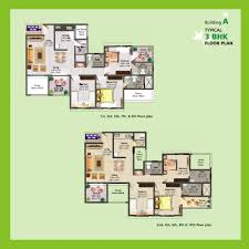 3 Bhk Apartment Floor Plan by Floor Plans 2 Bhk 3 Bhk Apartments For Sale In Baner Pune Dsk