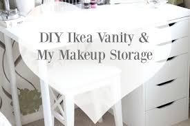 Diy Makeup Vanity Chair Diy Ikea Vanity U0026 Makeup Storage Kate Emma Loves