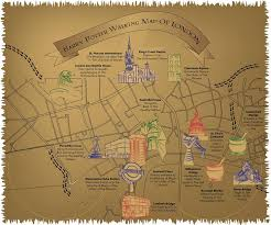 harry potter adventure map this magical map shows you all the harry potter locations in