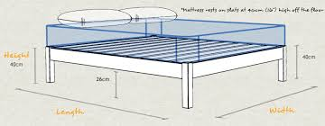 Height Of Bed Frame Platform Bed Space Saver Get Laid Beds