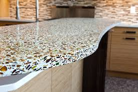 Countertops For Kitchen Bathroom Design Pretty Kitchen Island With Recycled Glass