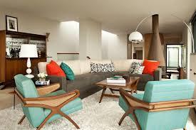 retro interior design with arco style floor lamp and elegant