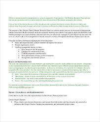 sample hr plan 9 documents in word pdf