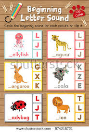 clip cards matching game beginning letter stock vector 574218721