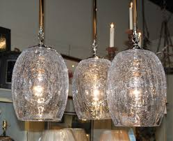 Crackle Glass Pendant Light Set Of 3 Crackle Glass Globe Pendant Lights Foxglove Antiques