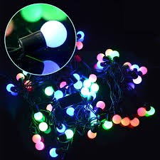 cheap new christmas lights led light string color changing 50 led