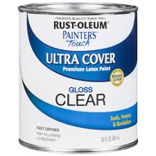 rust oleum 30 oz topcoat clear ultra matte interior chalked paint