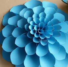 paper flowers large flower petals anyone can craft
